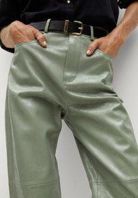 Mango - WALLY - Trousers - vert - 5