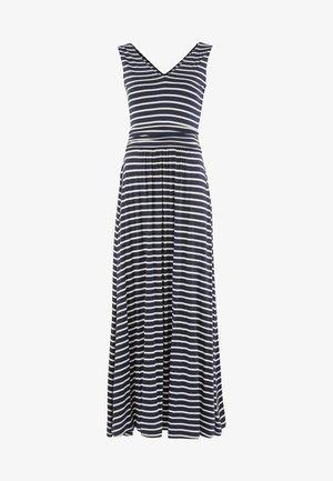 SIENNA  - Maxi dress - navy/naturweiß