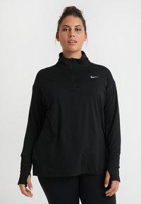 Nike Performance - W NK ELMNT TOP HZ PLUS - Sports shirt - black/reflective silver - 0