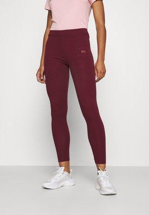 SLIM STRETCH  - Leggings - Trousers - deep rouge