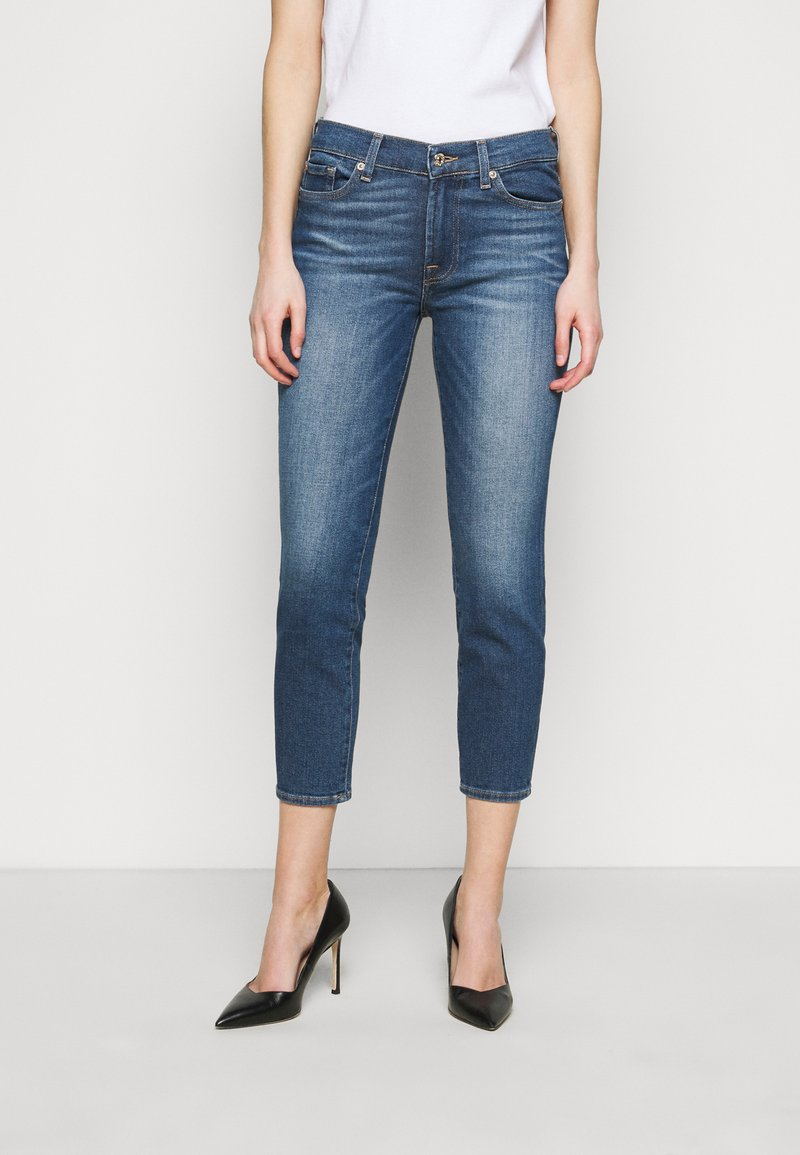 7 for all mankind - ROXANNE ANKLE LUXE VINTAGE PACIFIC GROVE - Jeans Skinny Fit - mid blue