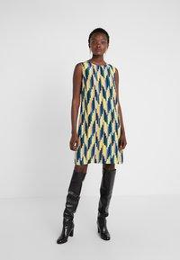 M Missoni - ABITO SENZA MANICHE - Day dress - yellow/blue - 0