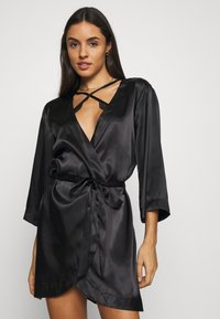 OW Intimates - CANDICE KIMONO - Dressing gown - black caviar - 0
