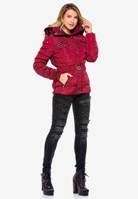 Cipo & Baxx - Winter jacket - burgundy - 3