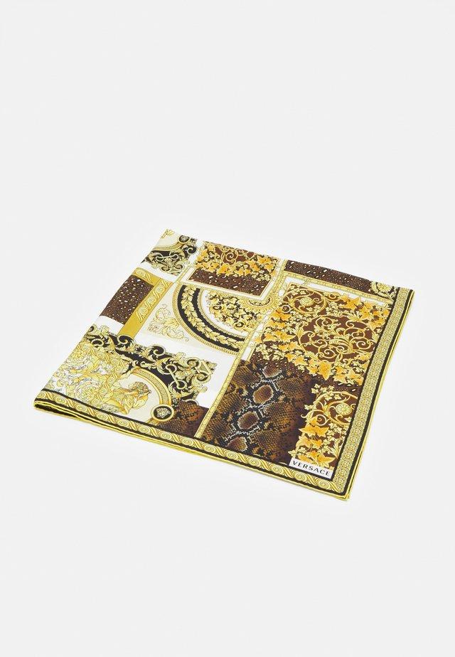 BAROCCO PATTCHWORK FOULARD UNISEX - Foulard - oro/marrone/bianco