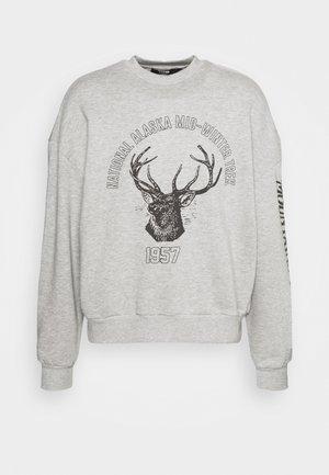 DEER GRAPHIC - Sweater - grey marl