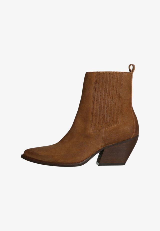 WESTERN - Cowboy/biker ankle boot - braun