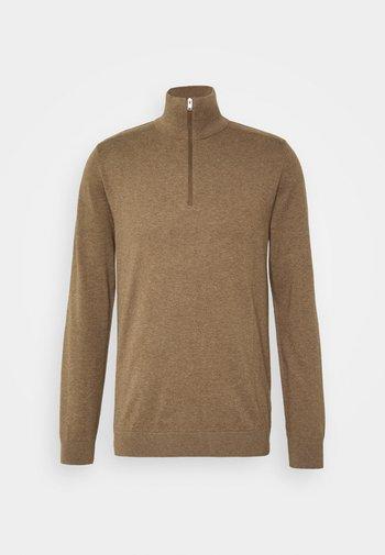 SLHBERG HALF ZIP  - Pullover - teak melange