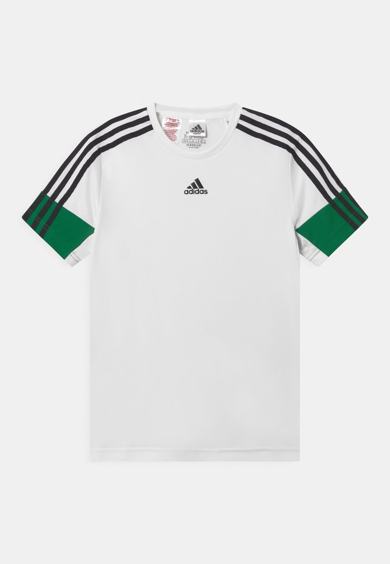 adidas Performance - UNISEX - T-shirt con stampa - white/black/green