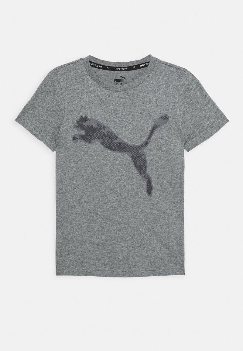 Puma - ACTIVE SPORTS GRAPHIC TEE - Print T-shirt - medium gray heather