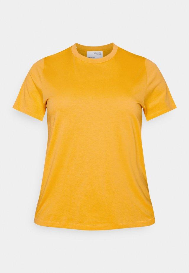 SLFPERFECT TEE BOX CUT - T-shirt basic - citrus