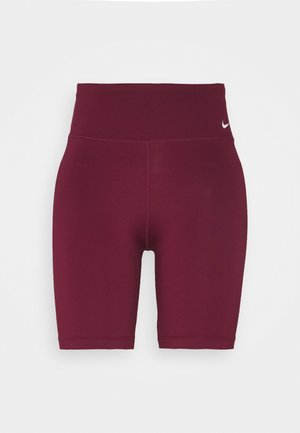 ONE SHORT - Tights - dark beetroot/white
