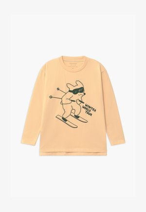 SKIING DOG TEE UNISEX - Maglietta a manica lunga - cream/dark green