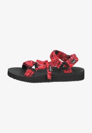 Sandalen met plateauzool - bandana rot