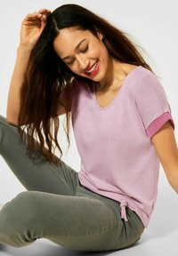 Street One - COSY  - Print T-shirt - pink - 2
