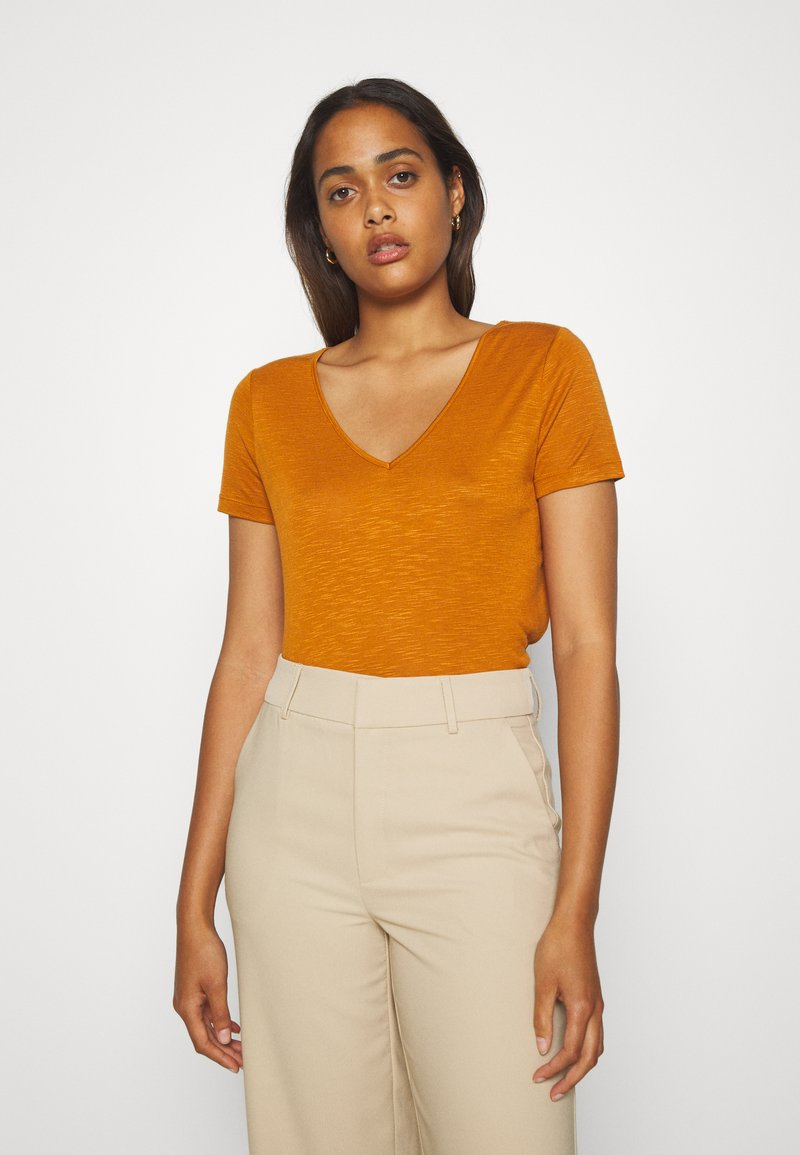 Vila - Basic T-shirt - pumpkin spice