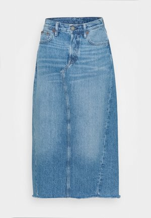 ANGIE  - Denimová sukně - medium indigo