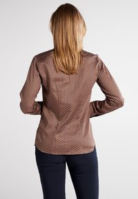 Eterna - MODERN CLASSIC SLIM FIT - Button-down blouse - braun - 1