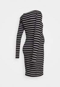 Anna Field MAMA - NURSING FUNCTION long sleeve stripe dress - Jerseykjoler - black/white - 1