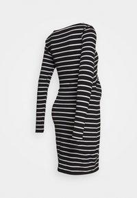 Anna Field MAMA - NURSING FUNCTION long sleeve stripe dress - Vestido ligero - black/white - 1