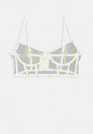 CORSET PAULA - Underwired bra - white/yellow