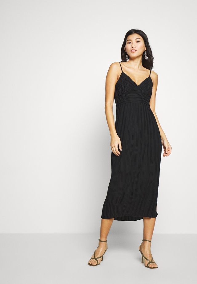 STRAPPY MIDI SHEATH SOLID - Day dress - black
