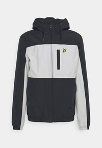 Lyle & Scott - COLOUR BLOCK ZIP THROUGH JACKET - Summer jacket - dark navy - 3