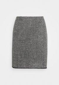 Opus - RAVENNA DOTTED - Mini skirt - black - 0