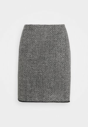 RAVENNA DOTTED - Mini skirt - black