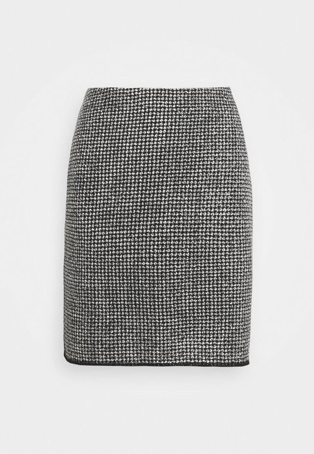 RAVENNA DOTTED - Mini skirts  - black