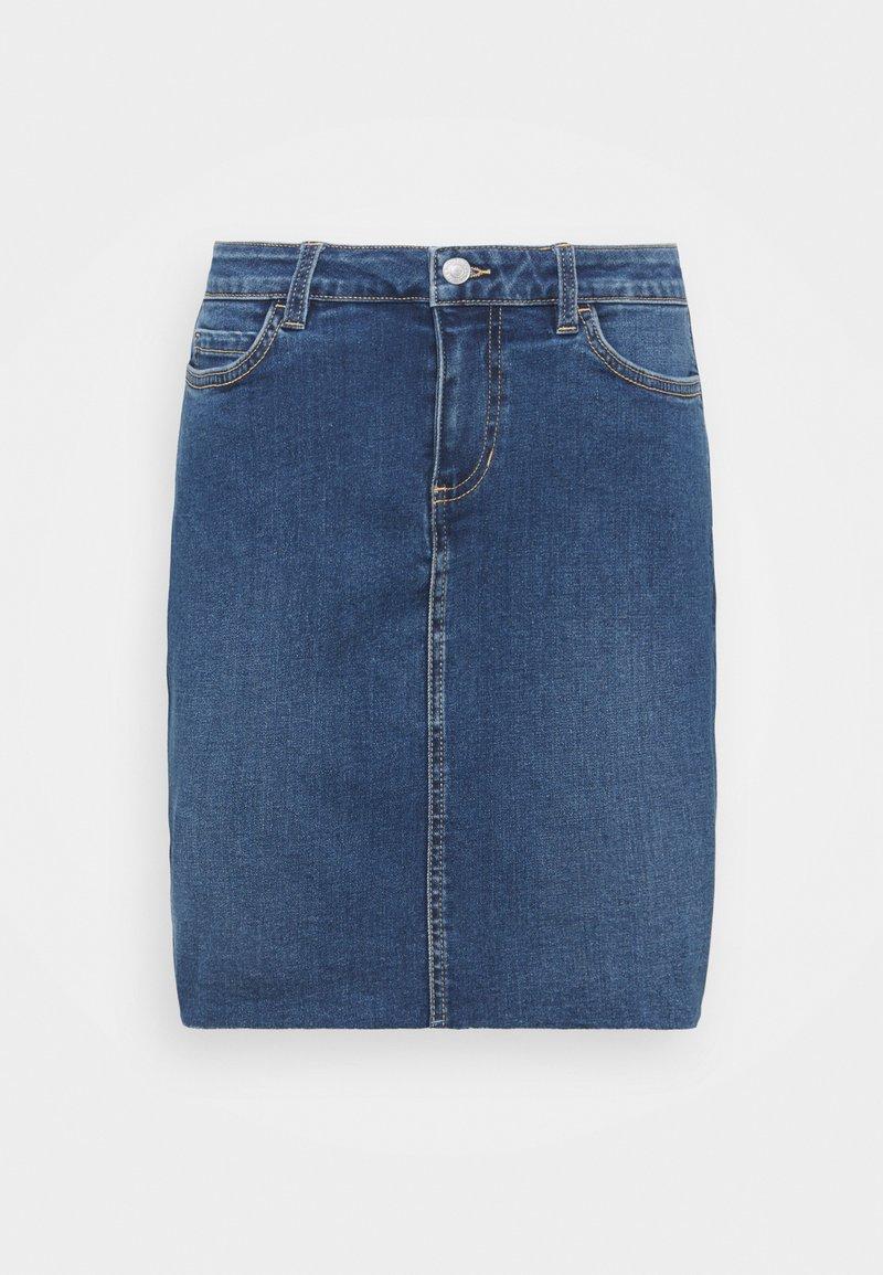TOM TAILOR DENIM - MINI SKIRT - Jeansskjørt -  blue denim