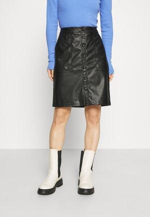 ONLLAUREN VOLA - Pencil skirt - black