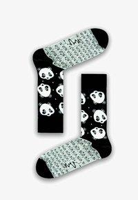 Natural Vibes - PANDAS SOCKEN AUS BIOBAUMWOLLE - Socks - black / white - 0