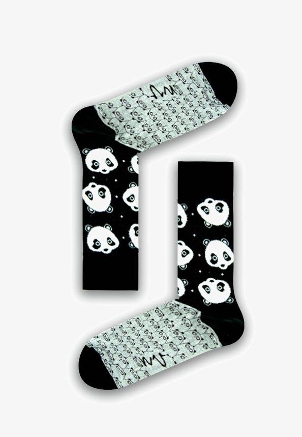 Natural Vibes - PANDAS SOCKEN AUS BIOBAUMWOLLE - Socks - black / white