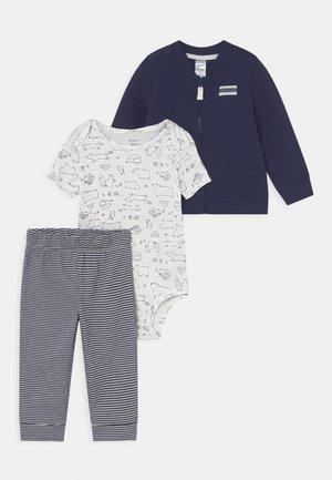 SET - T-shirt basic - dark blue/white