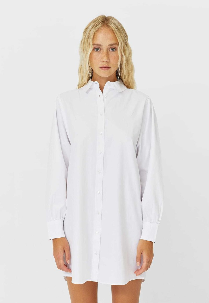 Stradivarius - Button-down blouse - white