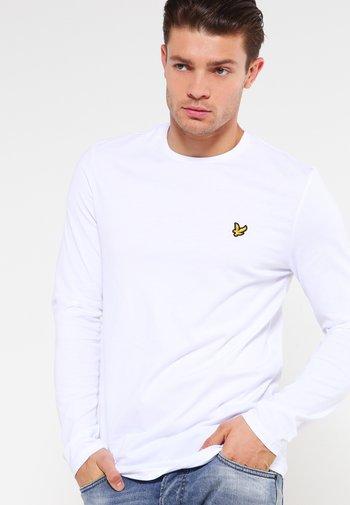 CREW NECK PLAIN - Long sleeved top - white
