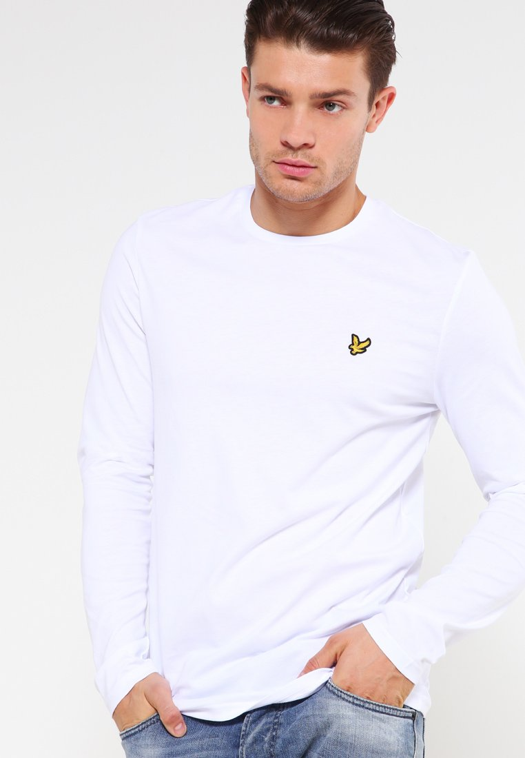 Lyle & Scott - CREW NECK PLAIN - Long sleeved top - white