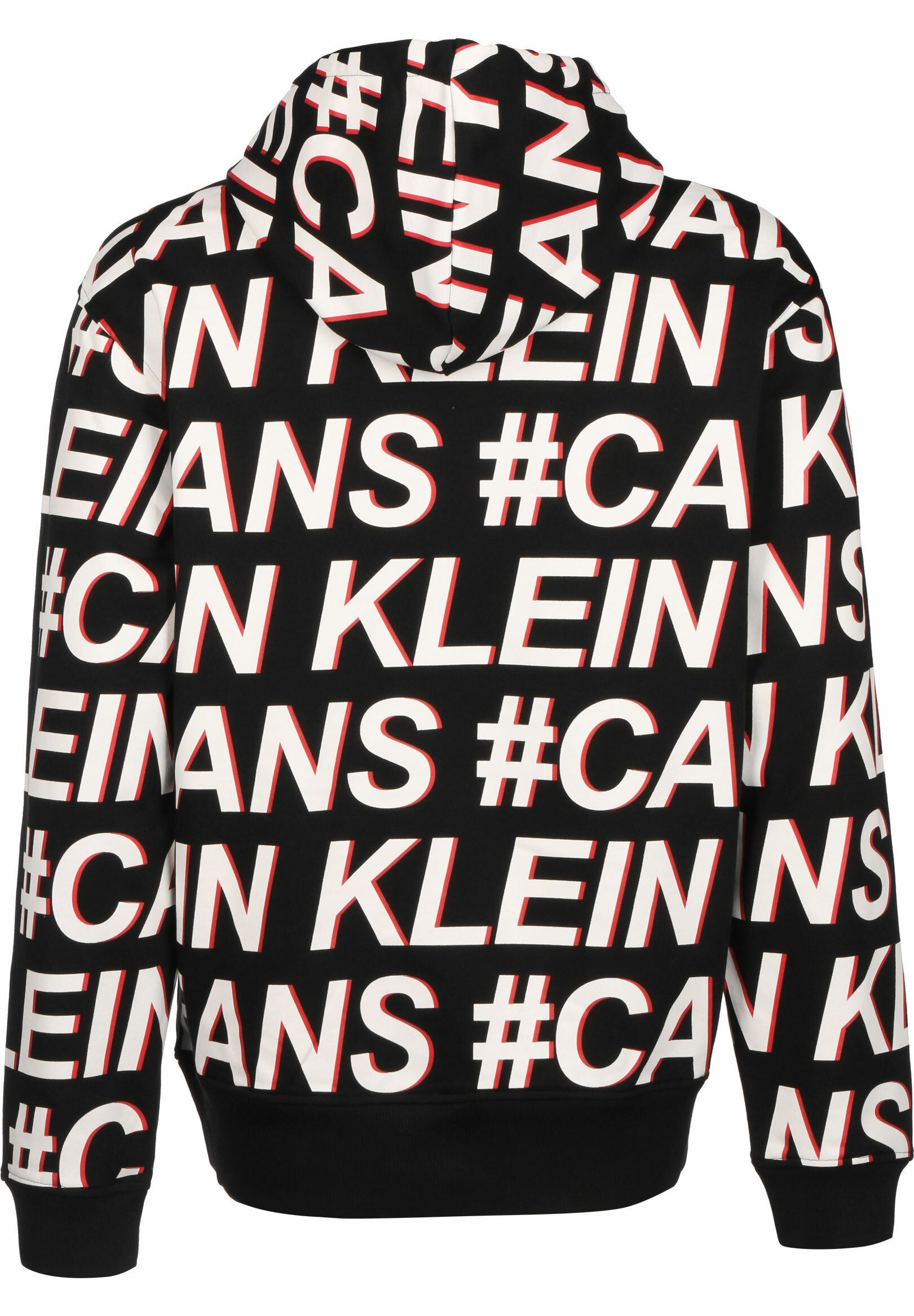 Calvin Klein Jeans HOODIE #LOGO AOP - Sweat à capuche - black