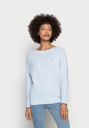 TEXTURE SWEATER - Jumper - blue