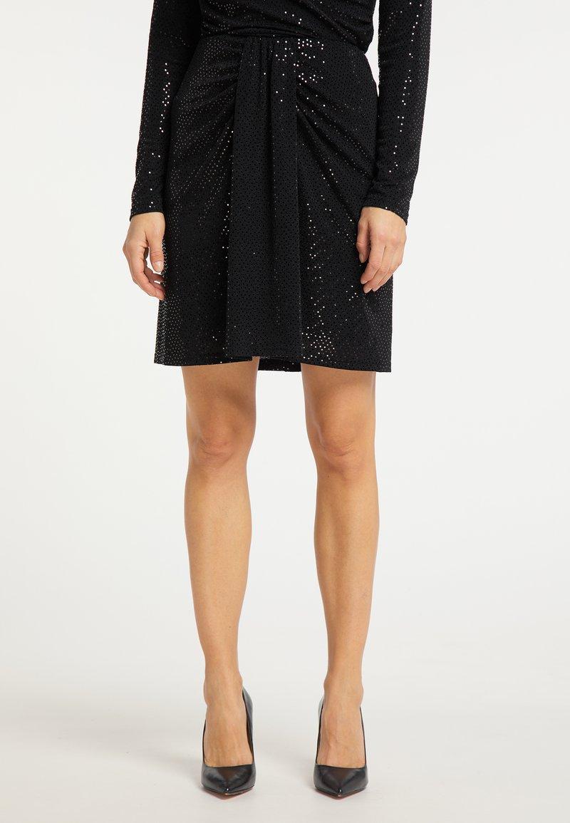 usha - A-line skirt - schwarz