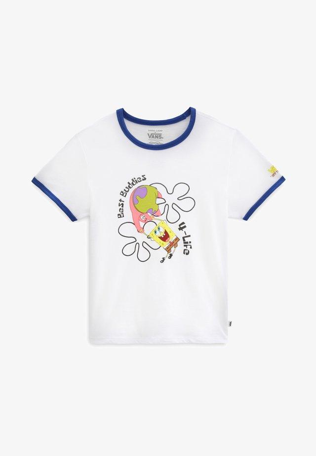 GR VANS X SPONGEBOB BEST BUDDIES RINGER - T-shirt print - spongebob bstbddies4life