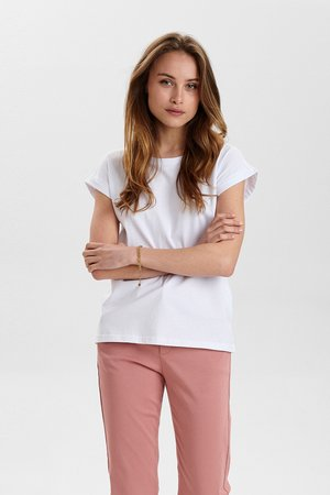 NUBEVERLY  - Basic T-shirt - bright white