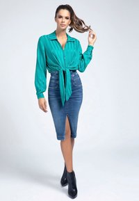 Guess - GESTREIFTE  - Button-down blouse - grünblau - 1