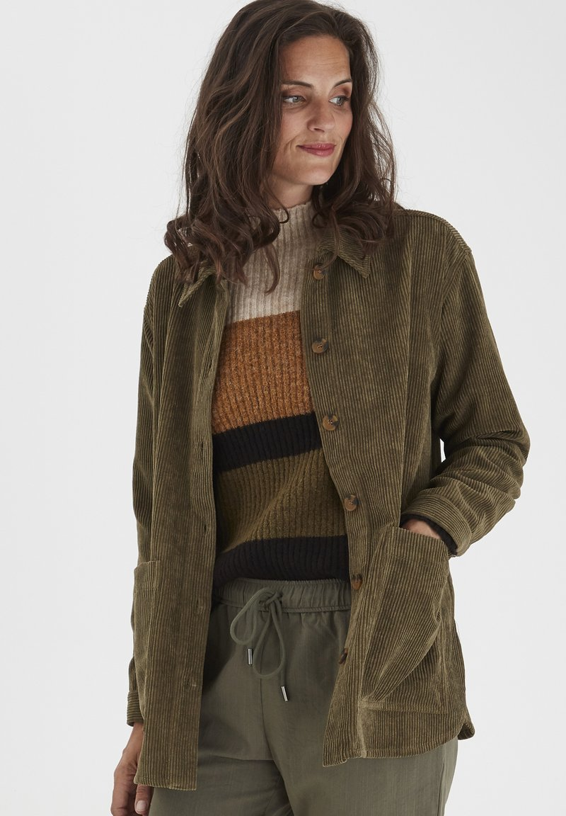 Fransa - FRMACORDUROY - Summer jacket - dark olive