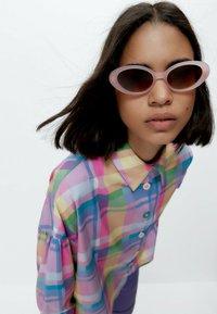 Uterqüe - Button-down blouse - pink - 3
