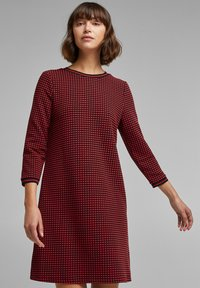 edc by Esprit - POPCORN  - Jumper dress - red - 0