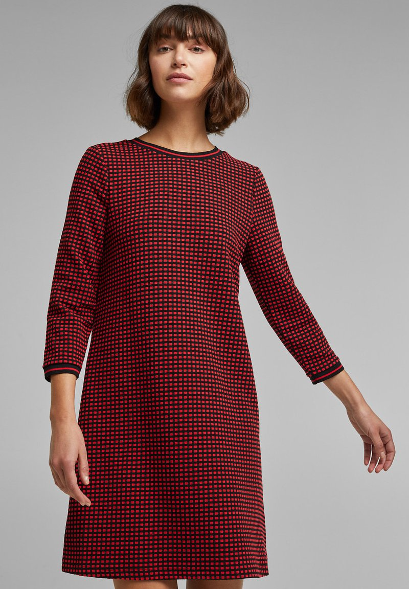 edc by Esprit - POPCORN  - Jumper dress - red