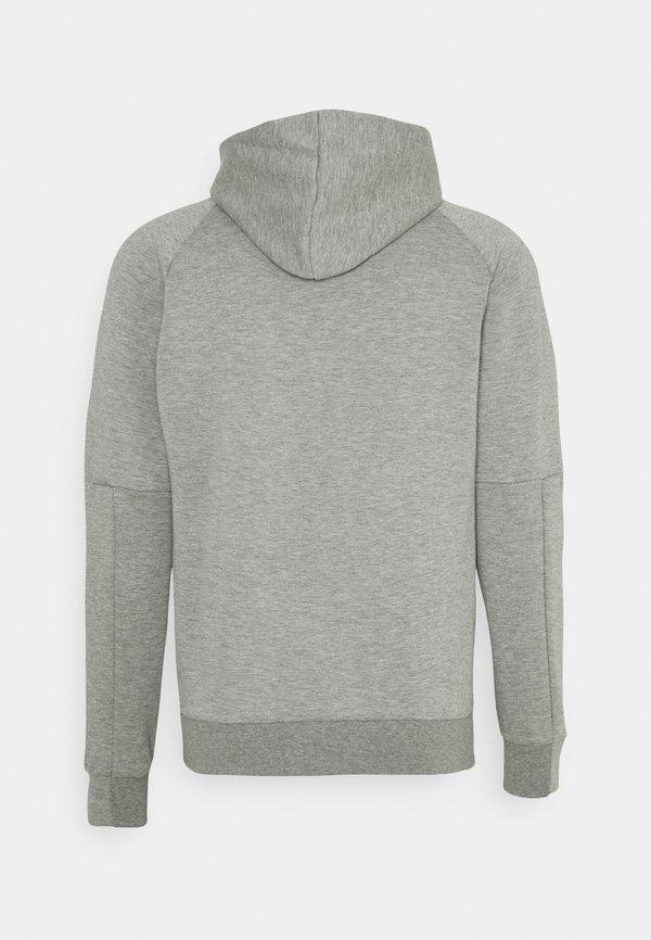 Puma CLASSICS TECH HOODIE - Bluza rozpinana - medium gray heather/szary melanż Odzież Męska LWOU