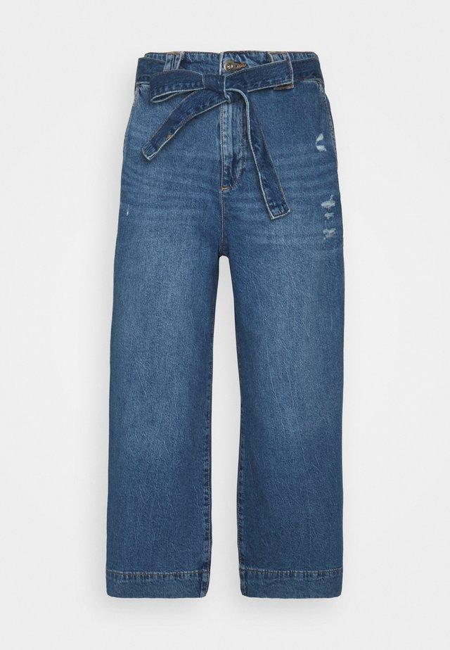 Široké džíny - blue denim